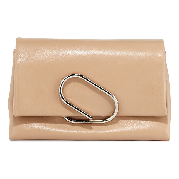 3.1 PHILLIP LIM Alix soft flap clutch bag - 3. 1 Phillip Lim plonge lambskin clutch. Snake-chain...