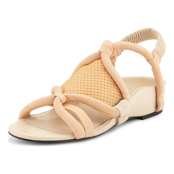 3.1 PHILLIP LIM Marquise Tubular Strappy Sandal - 3.1 Phillip Lim sandal with tubular loop-straps. Demi-wedge...