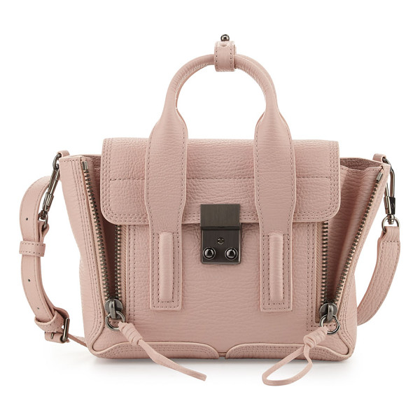 3.1 PHILLIP LIM Pashli Mini Leather Satchel Bag - 3.1 Phillip Lim grained calf leather satchel bag. Rolled