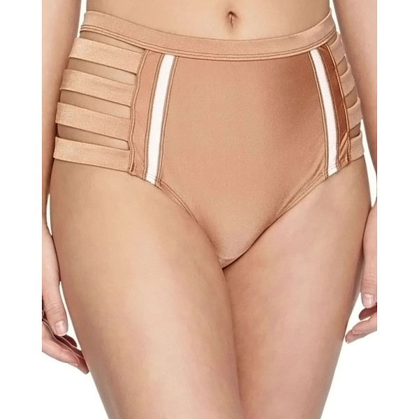 6 SHORE ROAD Metallic strappy high-waist swim bottom - 6 Shore Road by Pooja swim bottom in metallic microfiber...