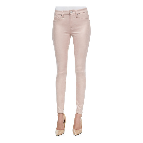 7 FOR ALL MANKIND Seamed faux leather skinny pants - 7 For All Mankind faux leather pants. Mid rise. Fitted...