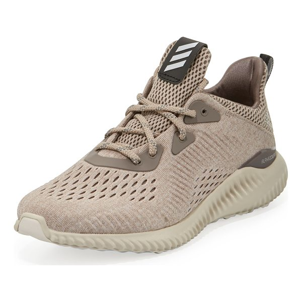 ADIDAS Alphabounce Engineered Mesh Sneaker - adidas seamless perforated mesh sneaker, designed with...
