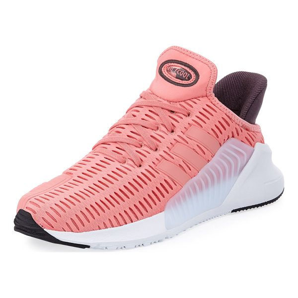 ADIDAS Climacool Mesh-Knit Sneaker - Adidas mesh-knit fabric sneaker with rubber and nubuck...