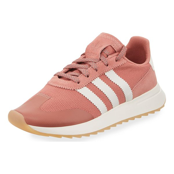 ADIDAS Flashback Mesh/Leather Sneaker - Adidas mesh sneaker with leather and pinked trim. Signature...