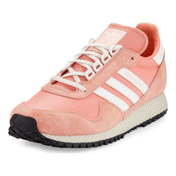 "ADIDAS New York Trainer Sneaker - adidas ""New York"" trainer sneakers in textile and suede...."