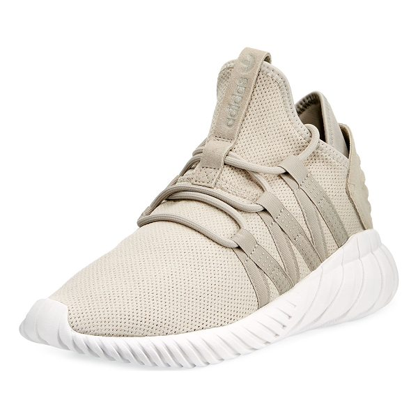 ADIDAS Tubular Dawn Knit Trainer - Adidas knit trainer with rubber trim. Flat heel with...
