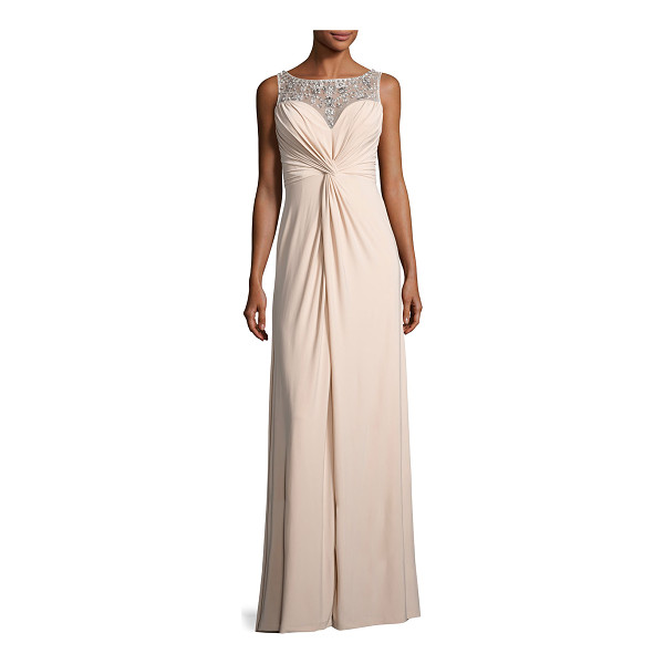 AIDAN MATTOX Embellished Twist-Front Column Gown - ONLYATNM Only Here. Only Ours. Exclusively for You. Aidan...