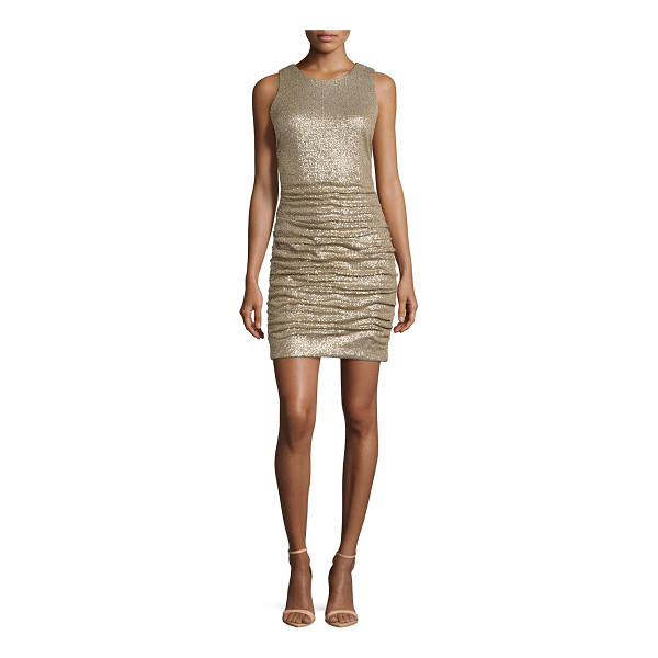 "AIDAN MATTOX Ruched sequin cocktail dress - Aidan Mattox knit and sequin dress. Approx. length: 32""L..."