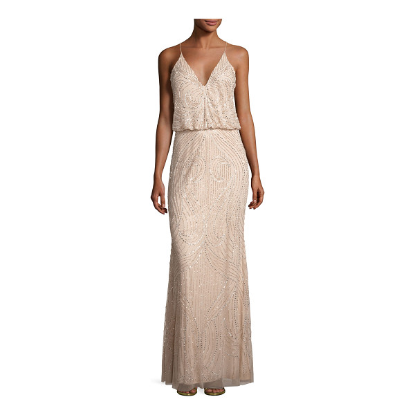 AIDAN MATTOX Sleeveless Beaded Blouson Gown - ONLYATNM Only Here. Only Ours. Exclusively for You. Aidan...