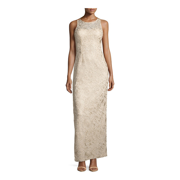 AIDAN MATTOX Strappy Soutache Column Gown - ONLYATNM Only Here. Only Ours. Exclusively for You. Aidan...