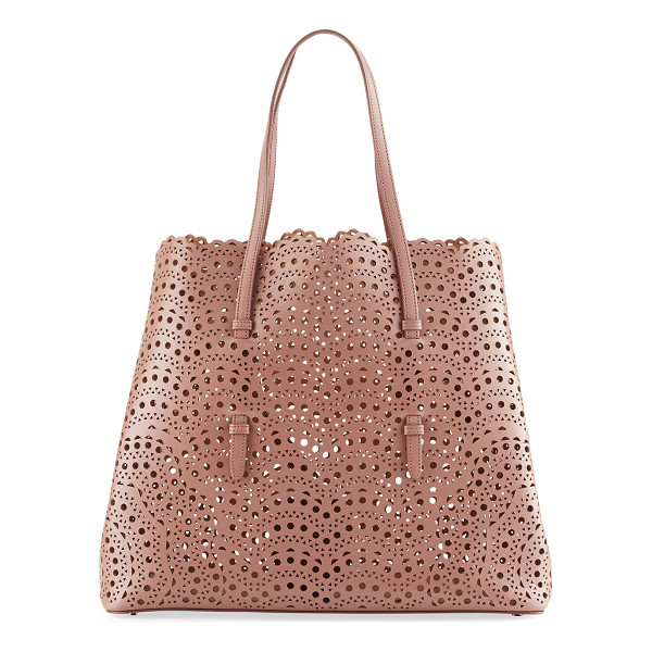 ALAIA Classic Laser-Cut Tote Bag - ALAIA laser cut leather tote bag with gunmetal hardware....