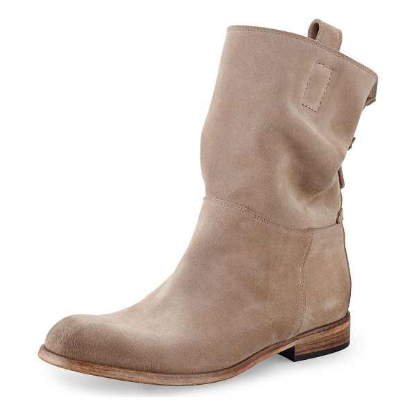 ALBERTO FERMANI Umbria Back Detail Ankle Boot - Suede upper. Leather sole. Stacked heel. Pull on style with...