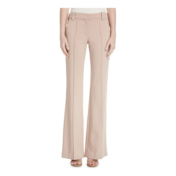"A.L.C. Lawrence Mid-Rise Wide-Leg Crepe Pants - A.L.C ""Lawrence"" crepe pants with seam detail. Approx...."