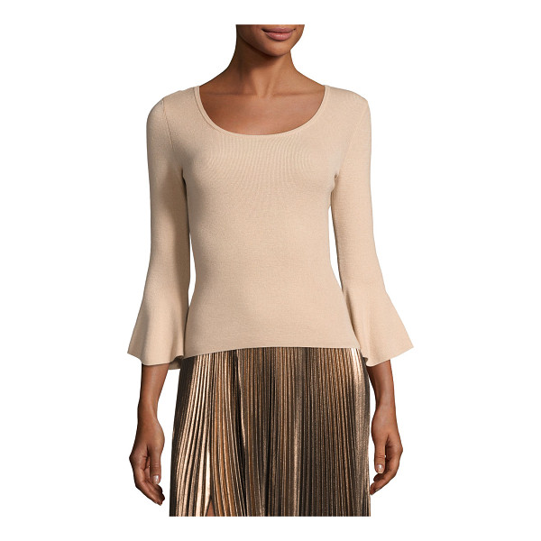 """A.L.C. Tadeo Bell-Sleeve Fitted Top - A.L.C. """"Tadeo"""" top in wool blend. Approx. 19""""L down center..."""