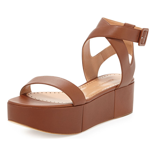 "ALEXA WAGNER Puccia Ankle Strap Platform Wedge - Alexa Wagner leather platform wedge sandal. 2"" covered..."