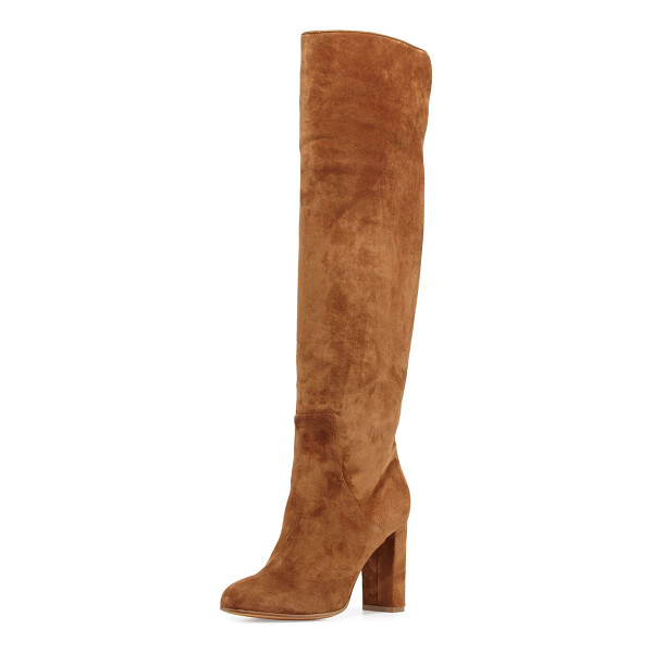 "ALEXA WAGNER Theresa Suede Over-the-Knee Boot - Alexa Wagner suede over-the-knee boot. 3.5"" covered block..."