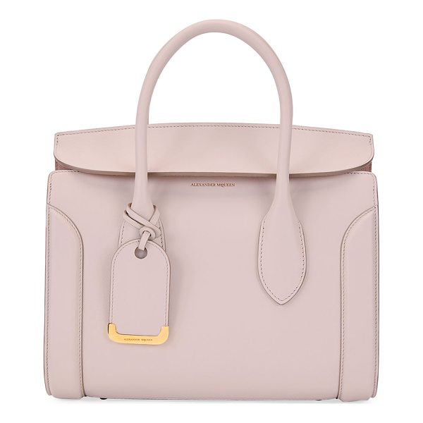 ALEXANDER MCQUEEN Heroine 30 Small Sweet Calf Leather Tote Bag - Alexander McQueen tote bag in calfskin leather with golden...