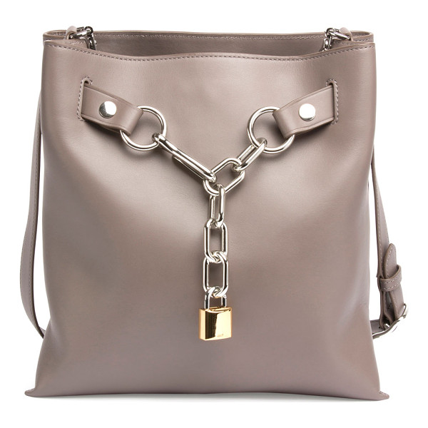 ALEXANDER WANG Attica Chain Crossbody Bag - Alexander Wang smooth calfskin crossbody bag. Silvertone