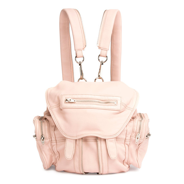 ALEXANDER WANG Mini Marti Leather Backpack - Alexander Wang washed lambskin backpack with nickel...