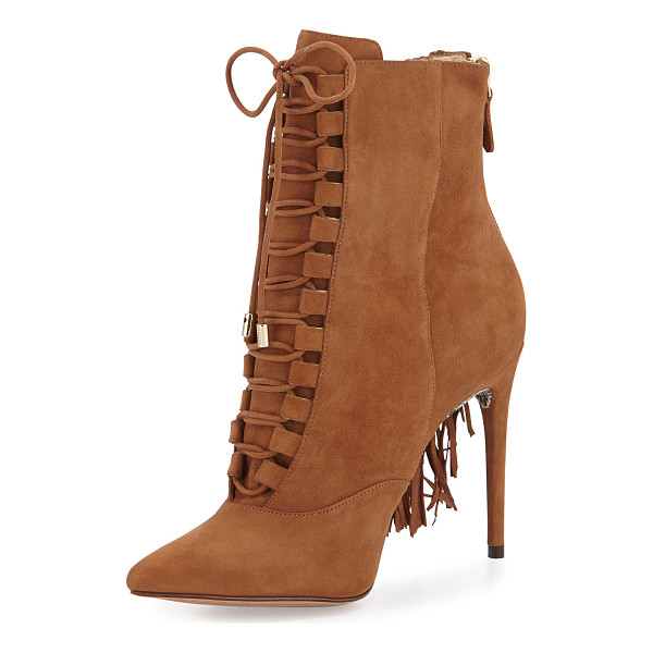 "ALEXANDRE BIRMAN Katys suede tassel boot - Alexandre Birman ankle boot with suede upper. 4"" covered..."