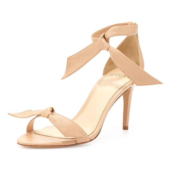 "ALEXANDRE BIRMAN Leather bow-tie dorsay sandal - - Alexandre Birman leather sandal. 3"" covered heel...."