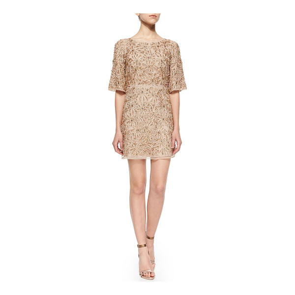 ALICE + OLIVIA Drina Embellished Mesh Dress - Alice + Olivia Drina dress in floral-embellished, beaded...