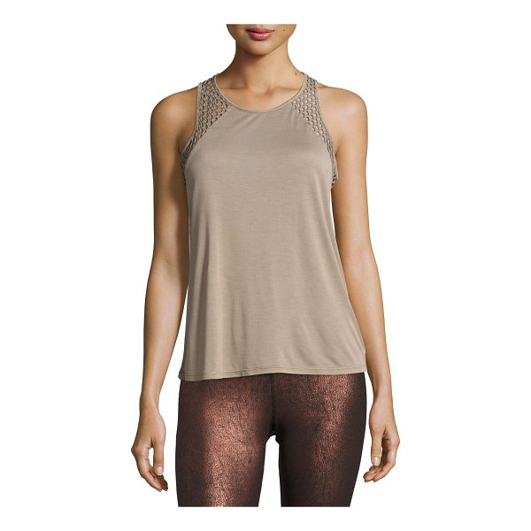 "ALO YOGA Cage Open-Back Performance Tank Top - Alo Yoga ""Cage"" athletic tank in ultra-light jersey with..."