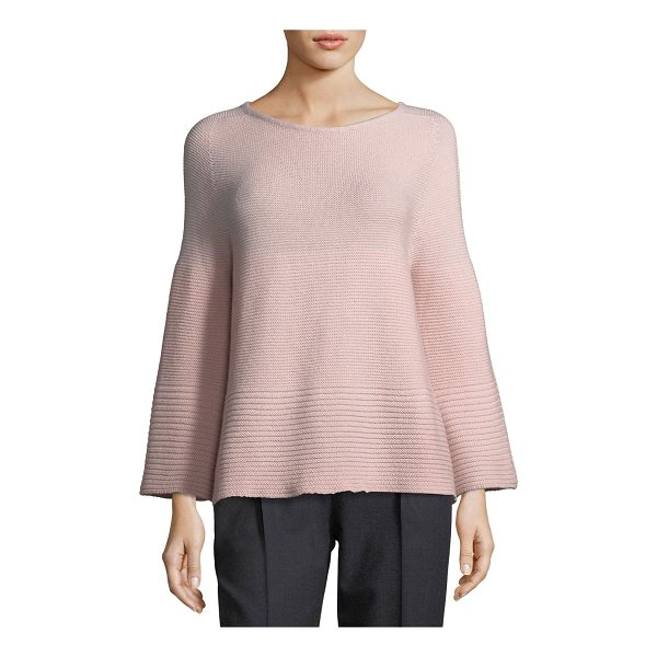 ANTONELLI Ballet-Neck Ribbed Sweater - Antonelli sweater in rib-knit. Ballet neckline. Long bell...