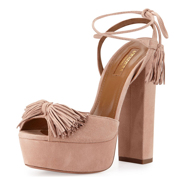 AQUAZZURA Wild One Tassel 140mm Sandal - ONLYATNM Only Here. Only Ours. Exclusively for You....