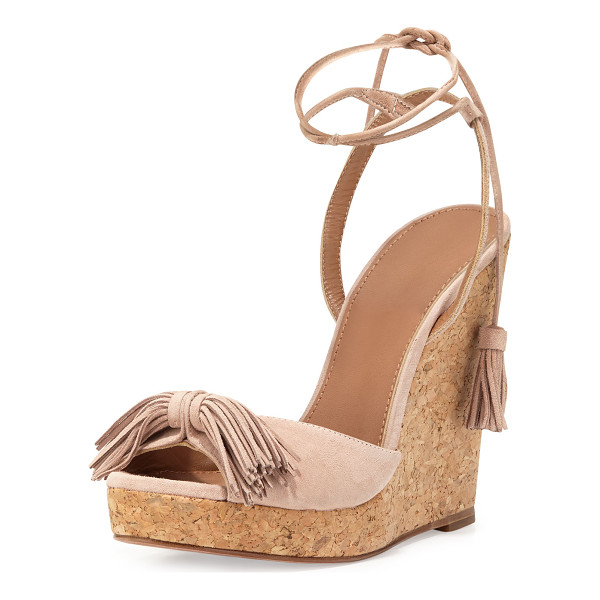 AQUAZZURA Wild One Tassel Wedge Sandal - ONLYATNM Only Here. Only Ours. Exclusively for You....
