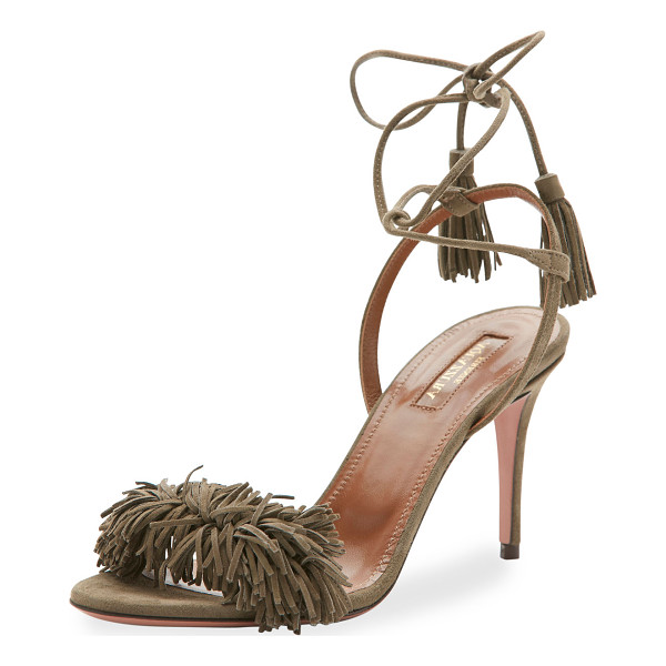 AQUAZZURA WILD THING 85 - Aquazzura suede sandal. Available in multiple colors. 3.3""