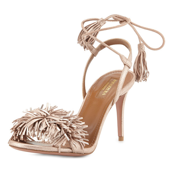 AQUAZZURA Wild Thing Suede 85mm Sandal - ONLYATNM Only Here. Only Ours. Exclusively for You....