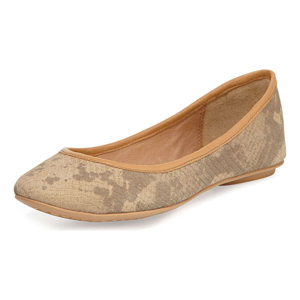 ASH Instinct leather ballet flat - Ash ballet flat with snake-print leather upper. Approx....
