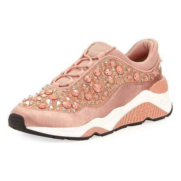 ASH Muse Beaded Crystal Sneaker - EXCLUSIVELY AT NEIMAN MARCUS Ash fabric sneaker with...