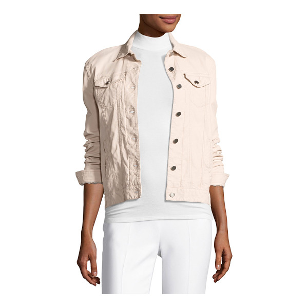 ATM ANTHONY THOMAS MELILLO Leather Button-Front Jacket - ATM Anthony Thomas Melillo denim-style jacket in leather....