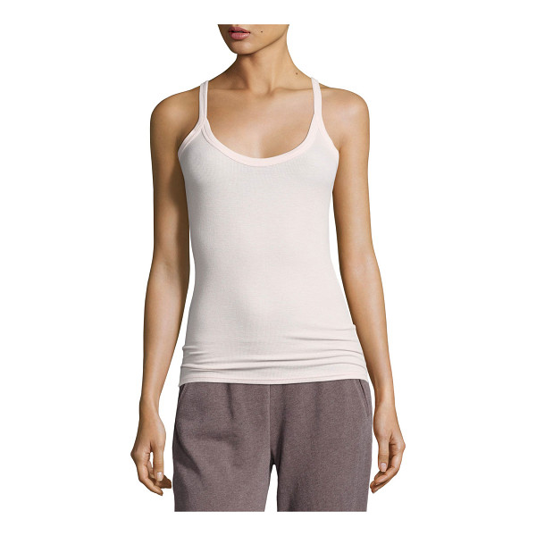 ATM ANTHONY THOMAS MELILLO Modal Rib Scooped Muscle Tank - ATM Anthony Thomas Melillo ribbed knit tank top. Scoop...