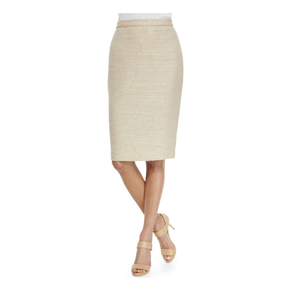 BADGLEY MISCHKA COLLECTION Pique pencil skirt - Pencil skirt in pique knit by Badgley Mischka Collection....