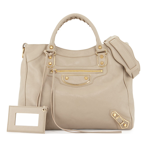 BALENCIAGA Metallic Edge Golden Velo AJ Bag - ONLYATNM Only Here. Only Ours. Exclusively for You....