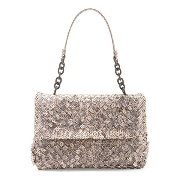BOTTEGA VENETA Olimpia Tobu Ayers Shoulder Bag - Bottega Veneta woven watersnake and lambskin shoulder bag....