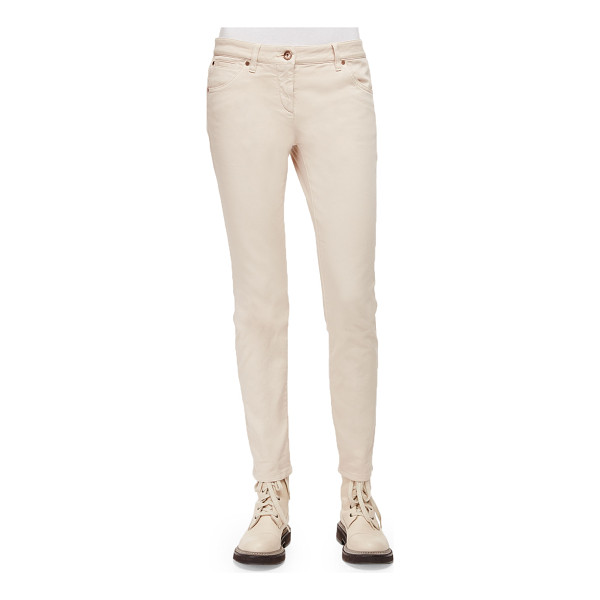 BRUNELLO CUCINELLI Five-Pocket Skinny Jeans - Brunello Cucinelli jeans in stretch denim. Classic