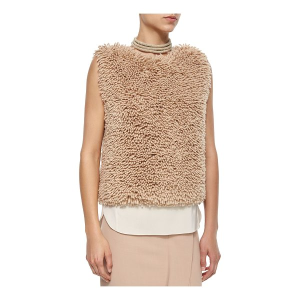BRUNELLO CUCINELLI Sleeveless Chubby Cashmere-Blend Pullover - Brunello Cucinelli chubby textured pullover. Approx....