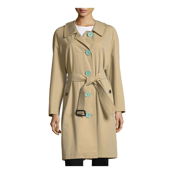 "BURBERRY Brinkhill Oversized Button Trench Coat - Burberry ""Brinkhill"" trenchcoat in gabardine. Approx...."
