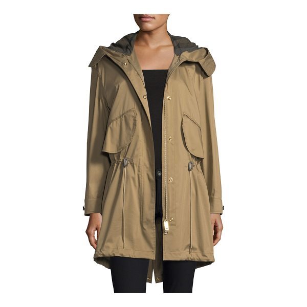 "BURBERRY Chiltondale Hooded Drawstring Parka - Burberry ""Chiltondale"" military-style parka in twill...."