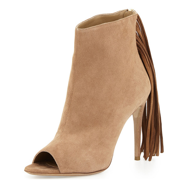 BURBERRY Danielle Suede Fringe Bootie - ONLYATNM Only Here. Only Ours. Exclusively for You....