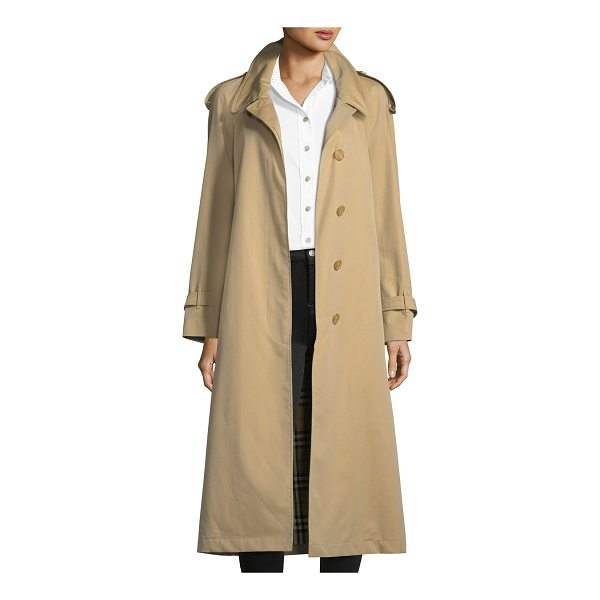 "BURBERRY Eastheath Double-Breasted Trench Coat - Burberry ""Eastheath"" trench with contrast wool collar...."