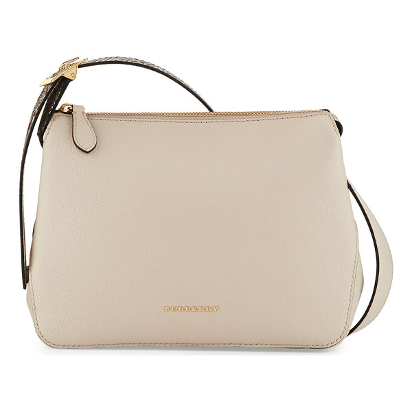 BURBERRY Helmsley Small Python & Leather Crossbody Bag - Burberry grained calfskin crossbody bag with python trim.
