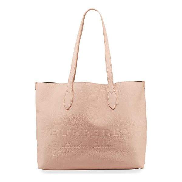 "BURBERRY Remington Soft Embossed Tote Bag - Burberry ""Remington"" soft pebbled leather tote bag. Flat..."