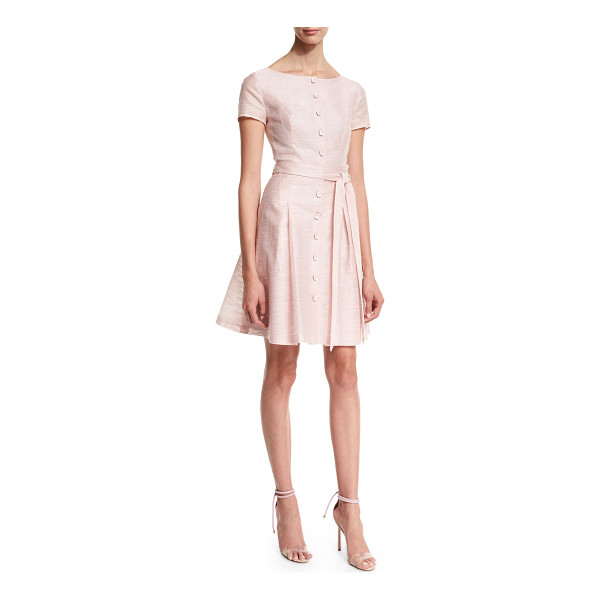 "CAROLINA HERRERA Short-Sleeve Button-Front Trench Dress - Carolina Herrera cotton-blend dress. Approx. length: 35.5""L..."