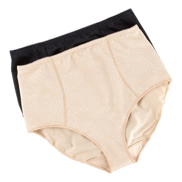 CHANTELLE C magnifique high-waist briefs - Nude with scale motif. High waist. Full coverage....