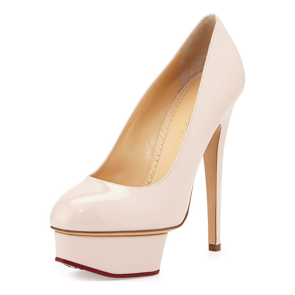 CHARLOTTE OLYMPIA Dolly patent platform pump - Charlotte Olympia patent leather pump. Covered stiletto...